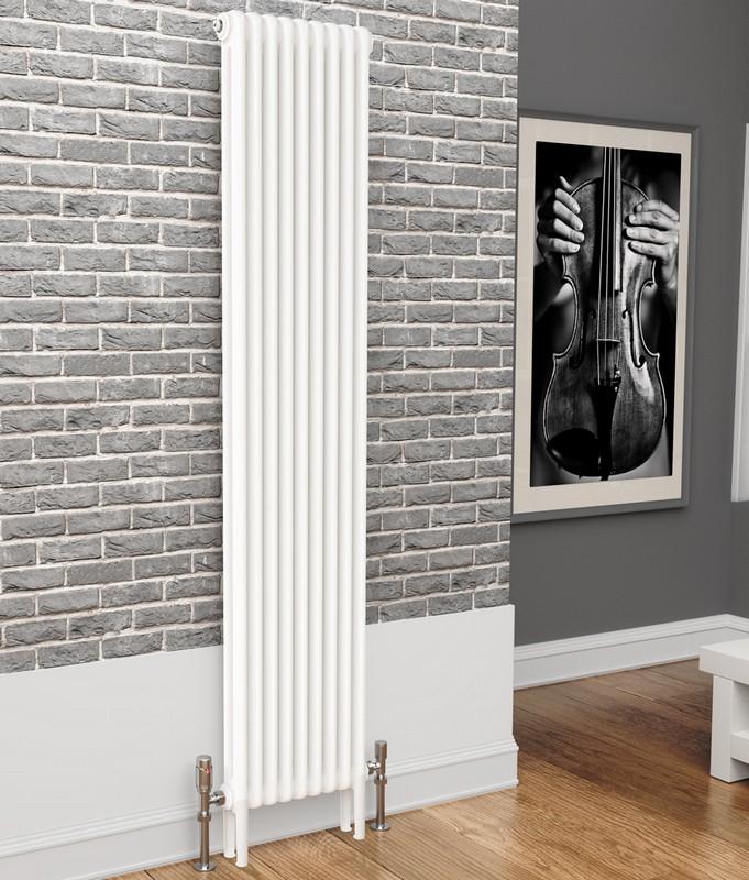 TradeRad Premium White 2 Column Vertical Radiator