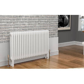 TradeRad Premium White 3 Column Horizontal Radiators