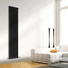 Black Vertical Column Radiators