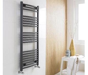Anthracite Ladder Heated Towel Rails