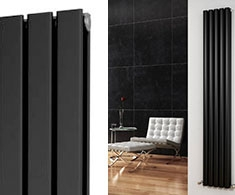 Black Vertical Designer Radiators