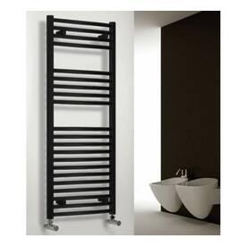 Black Straight Heated Towel Rails