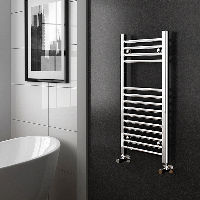 Straight Chrome Electric Heated Towel Rails