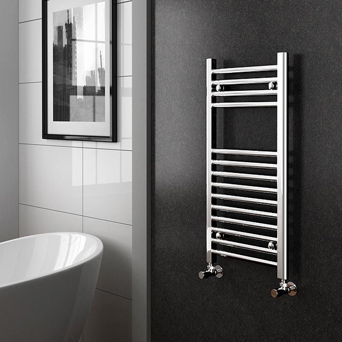 Straight Chrome Electric Heated Towel Rails