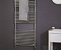 Demi Tube on Tube Heated Towel Rail