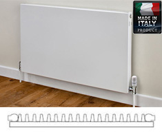 Eastgate Piatta Italian Single Panel Single Convector Radiator