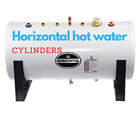 Horizontal hot water cylinders