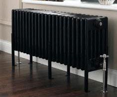 Black Horizontal Column Radiators