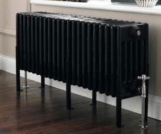 Black Horizontal Column Radiators