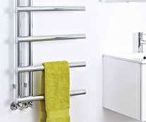 Level Steel Designer Heated Towel Rail