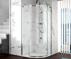 Merlyn 8 Series Frameless Quadrant Shower Doors