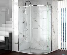 Merlyn 8 Series Frameless Offset Quadrant Shower Doors