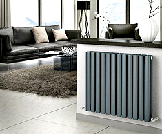 Onyx Anthracite Omega Horizontal Designer Radiators