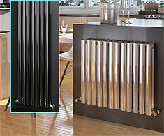 Onyx Omega Stainless Steel Designer Radiators