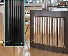 Onyx Omega Stainless Steel Designer Radiators