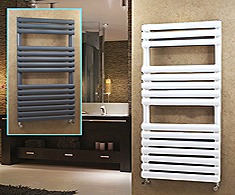 Onyx Painted Steel Omega Designer Towel Rails