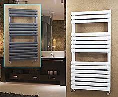 Onyx Painted Steel Omega Designer Towel Rails