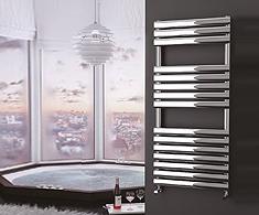 Onyx Stainless Steel Omega Designer Towel Rails