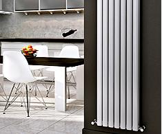 Onyx White Omega Vertical Designer Radiators