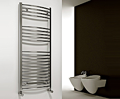 Reina Diva Curved Chrome Towel Rails