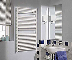 Reina White Heated Towel Rails