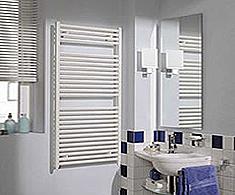 Reina White Heated Towel Rails