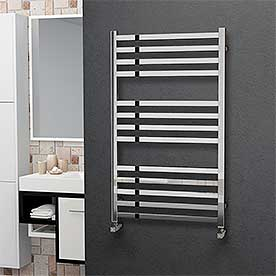 Square Stainless Steel Ladder Heated Towel Rails