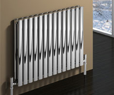 Curved Stainless Steel Heated Towel Rails