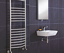 Thame Curved Designer Heated Towel Rail