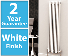 White Vertical Column Radiators