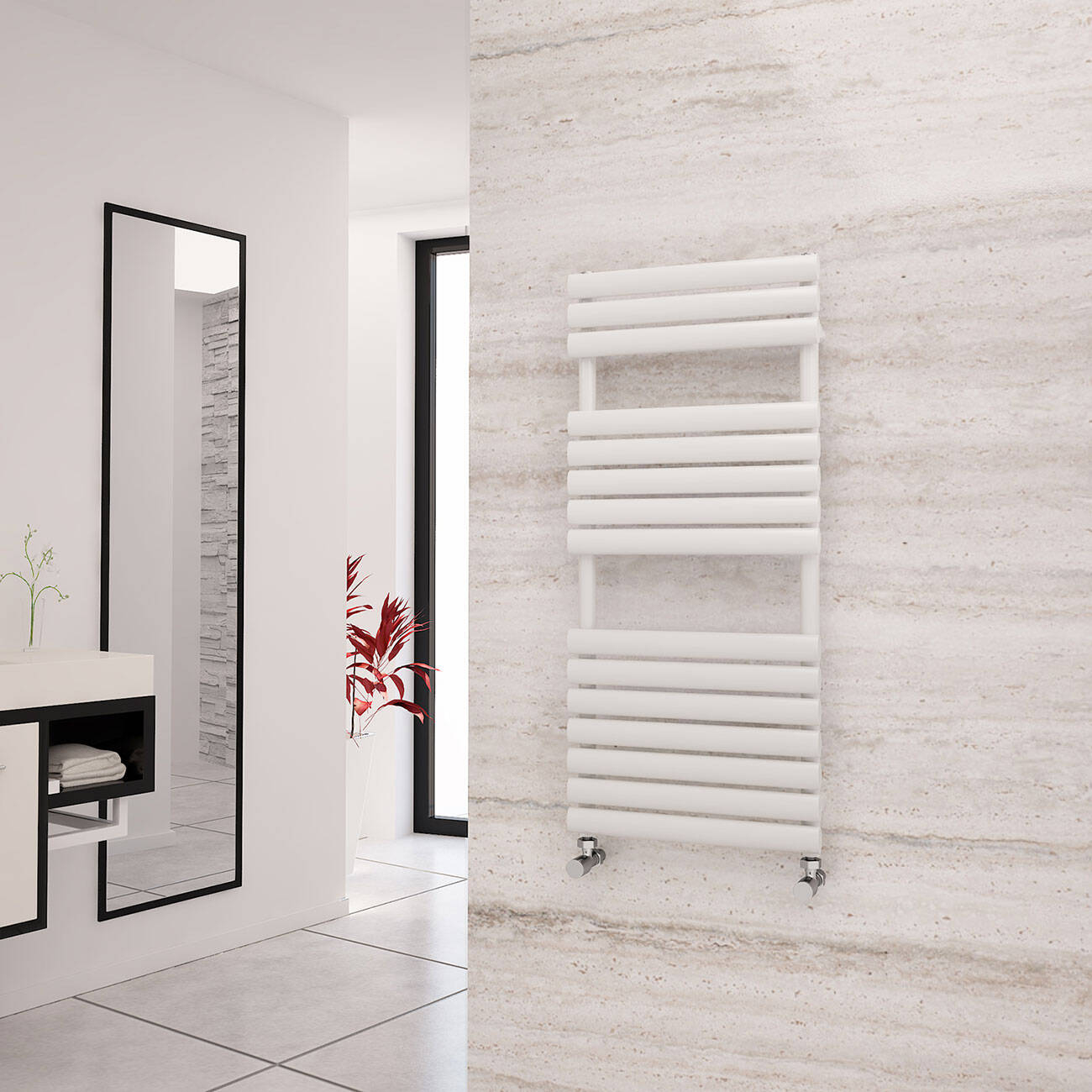 White Designer Heated Towel Rails