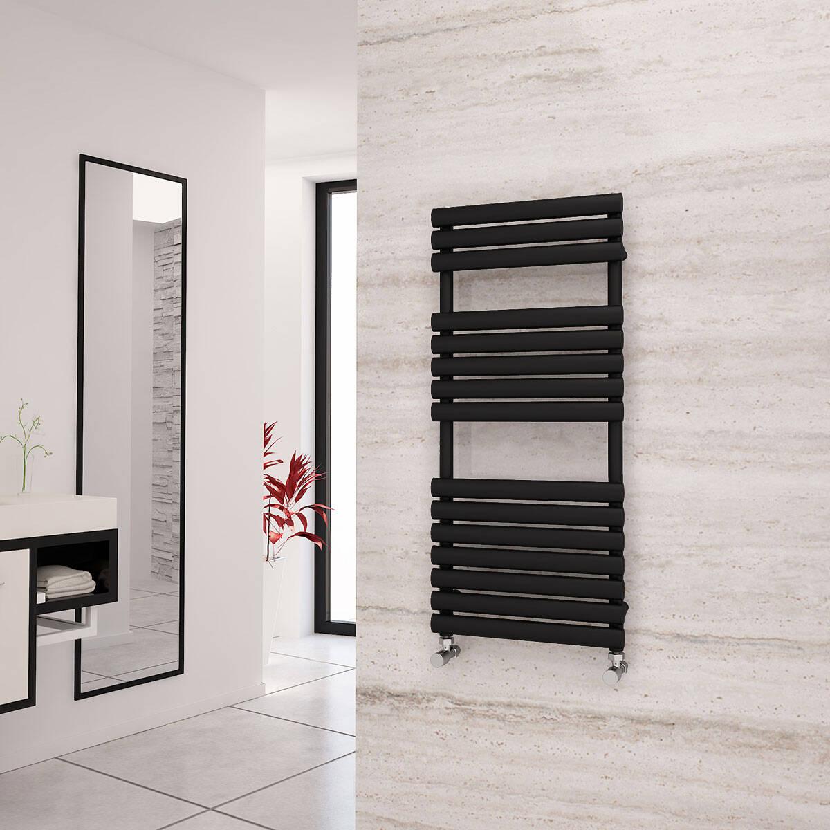Black Designer Heated Towel Rails