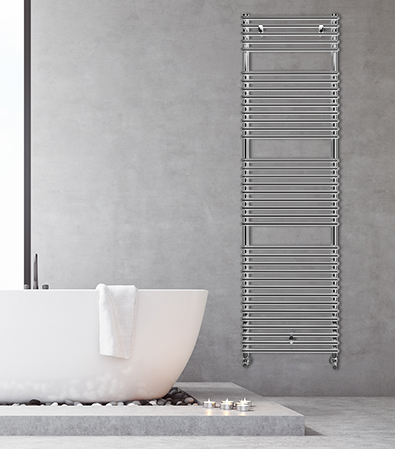 Lazzarini Catania Designer Heated Towel Rail Chrome