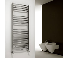 Curved Chrome Electric Heated Towel Rails