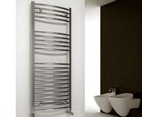 Curved Chrome Electric Heated Towel Rails