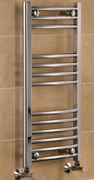 TradeRad Mild Steel Chrome Plated Curved Towel Rails