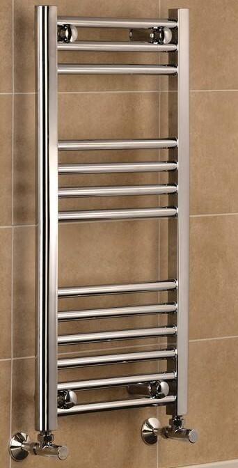 TradeRad Mild Steel Chrome Plated Straight Towel Rails