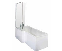 L Shaped Shower Baths