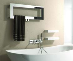 Designer heated towel rail