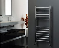 Straight Stainless Steel Electric Heated Towel Rails