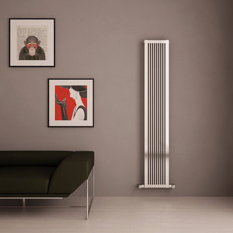 Dual Fuel Thermostatic Vertical Radiators