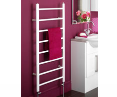 Straight White Electric Heated Towel Rails