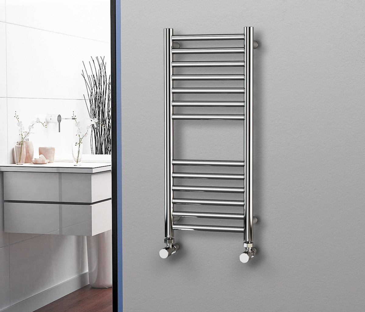 Straight Stainless Steel Heated Towel Rails