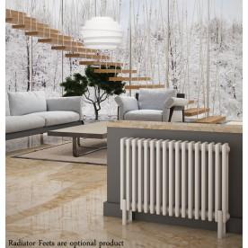 White Horizontal Column Radiators