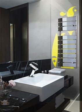 Lazzarini Venezia Chrome Designer Heated Towel Rail