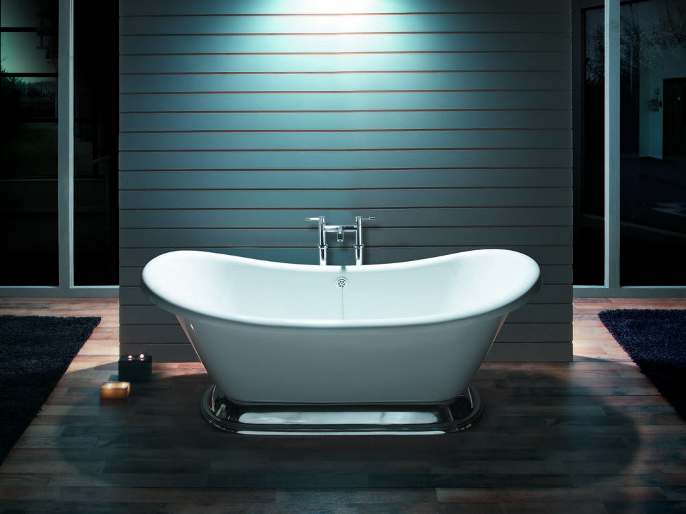 BC Designs Excelsior Acrylic Freestanding Bath with Primed