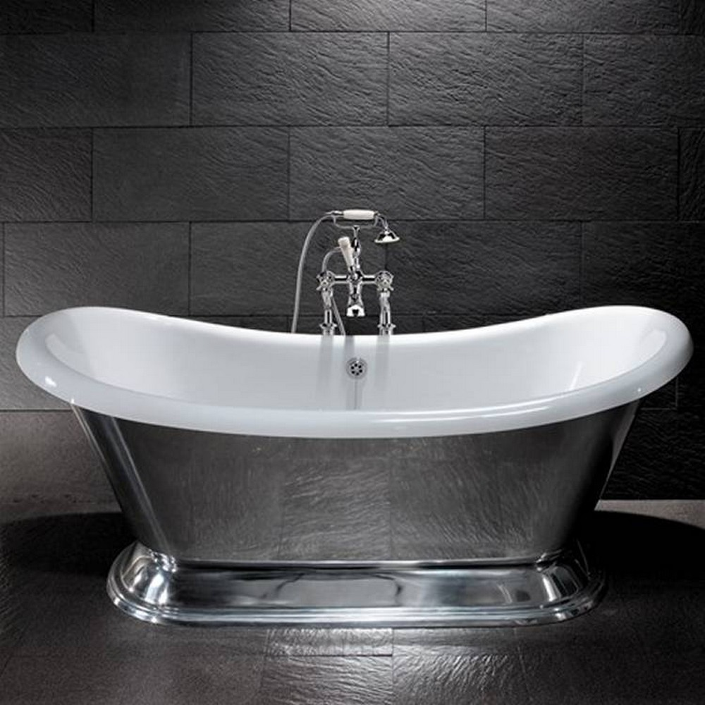 BC Designs Excelsior Polished Aluminium Freestanding Bath