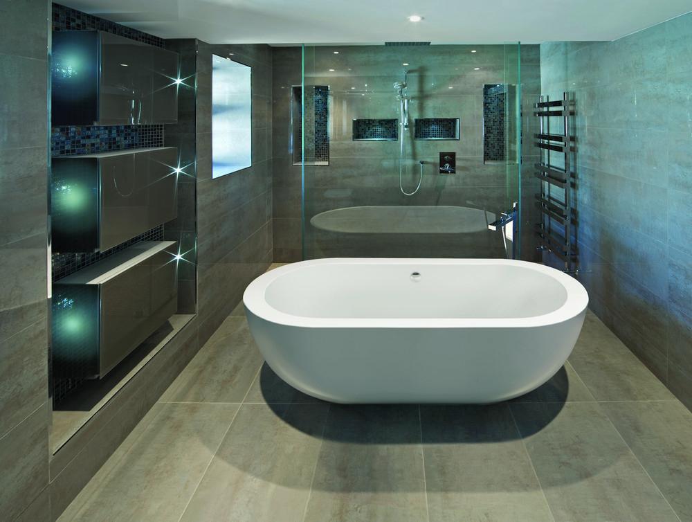 BC Designs Ovali Acrymite Acrylic Freestanding Bath