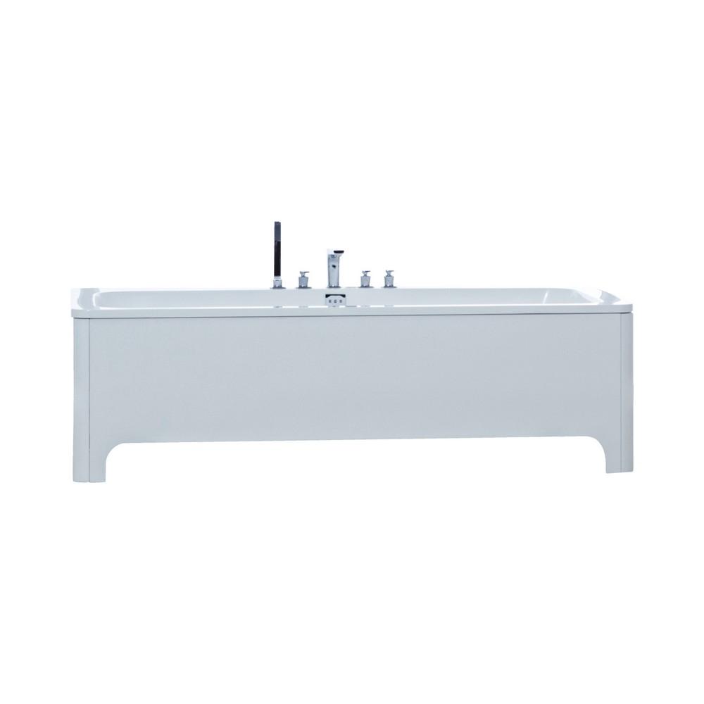 Phoenix Megan Amanzonite/Acrylic Modern Freestanding Bath