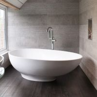 BC Designs GIO Cian Solid Surface Freestanding Bath 1645mm x 935mm